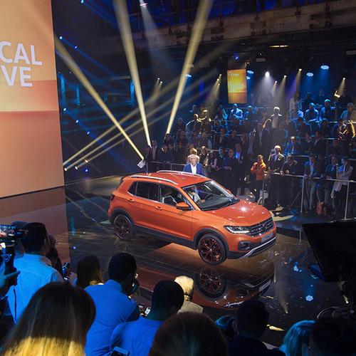 Vorstellung des VW T-Cross (in orange)