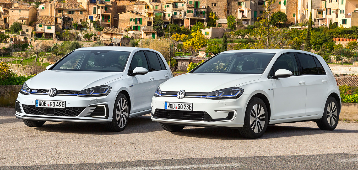 Golf GTE und e-Golf: Im Gegensatz zu seinem elektrischen Geschwistermodell fand der VW e-Golf im Jahr 2019 reißenden Absatz. Das liegt wohl sicher auch an seiner überragenden Technik-Bestückung.