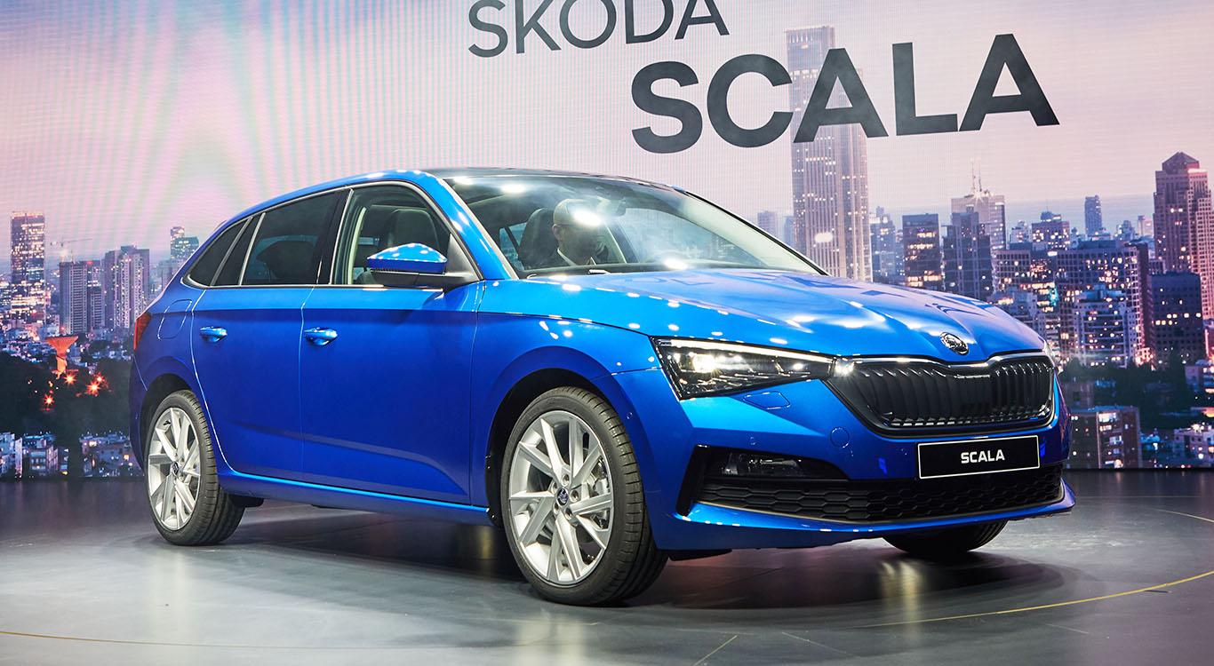 Das in Tel Aviv vorgestellte Serienmodell Skoda Scala übernimmt so manches Element der Paris-Studie Vision RS.
