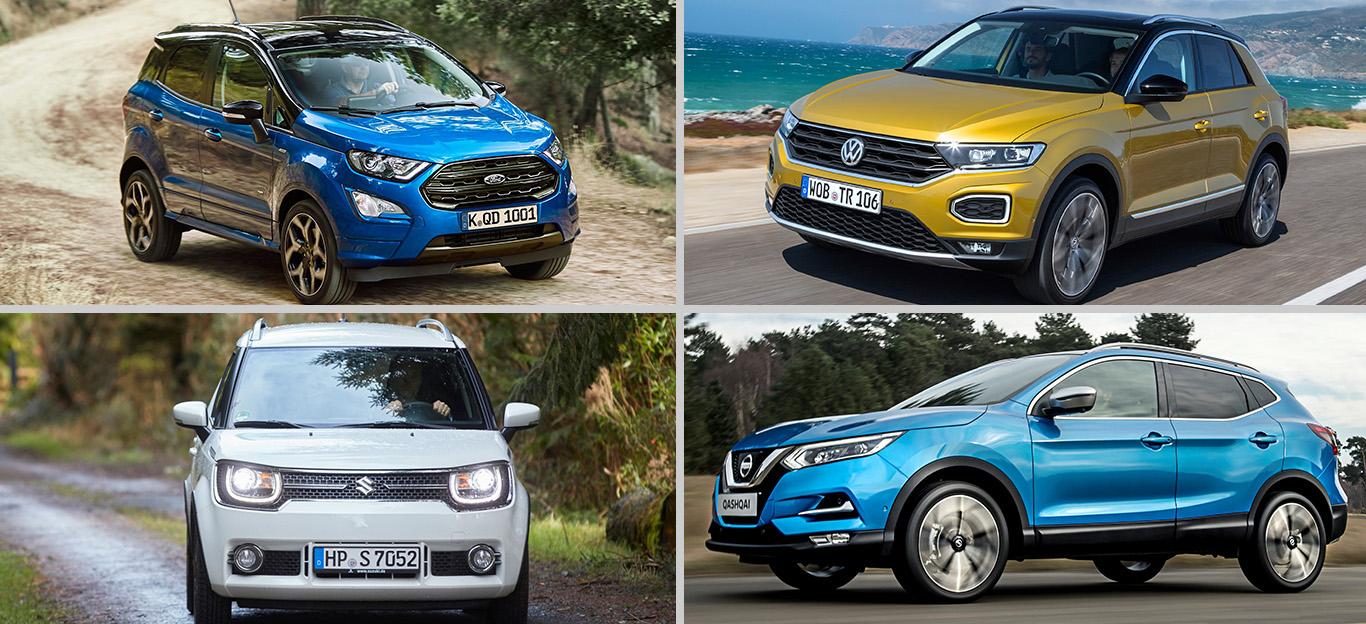 Günstige SUV, Kaufberatung, Foto-Collage, Crossover-Modelle