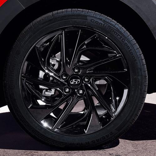 Hyundai Tucson N Line, Nahaufnahme Rad