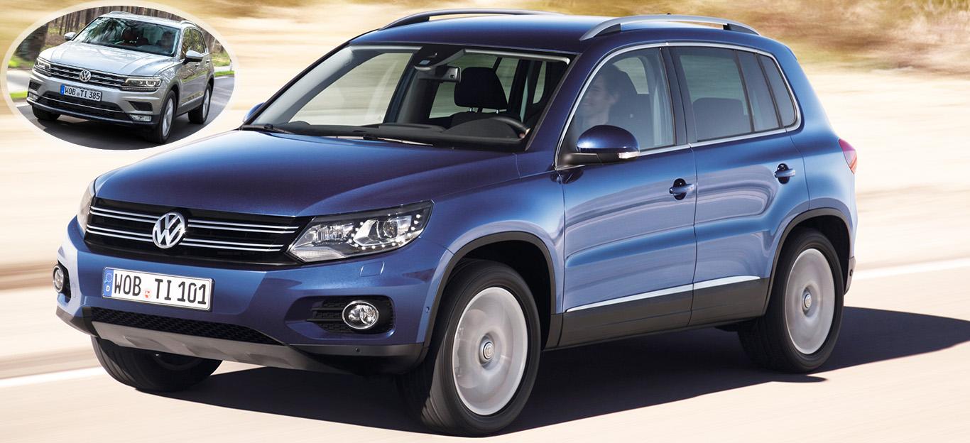 VW Tiguan 1 Facelift, VW Tiguan 2, Frontansicht