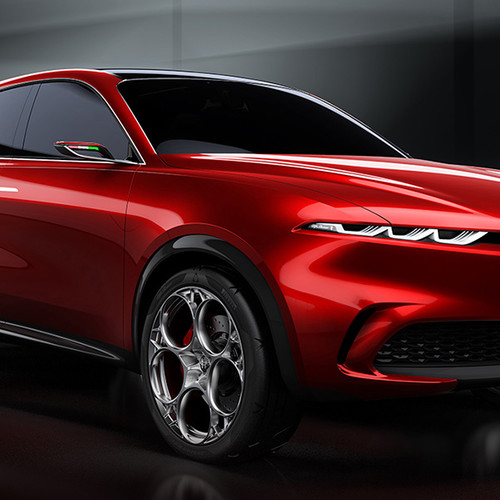 Alfa Romeo Tonale, Studie, rot