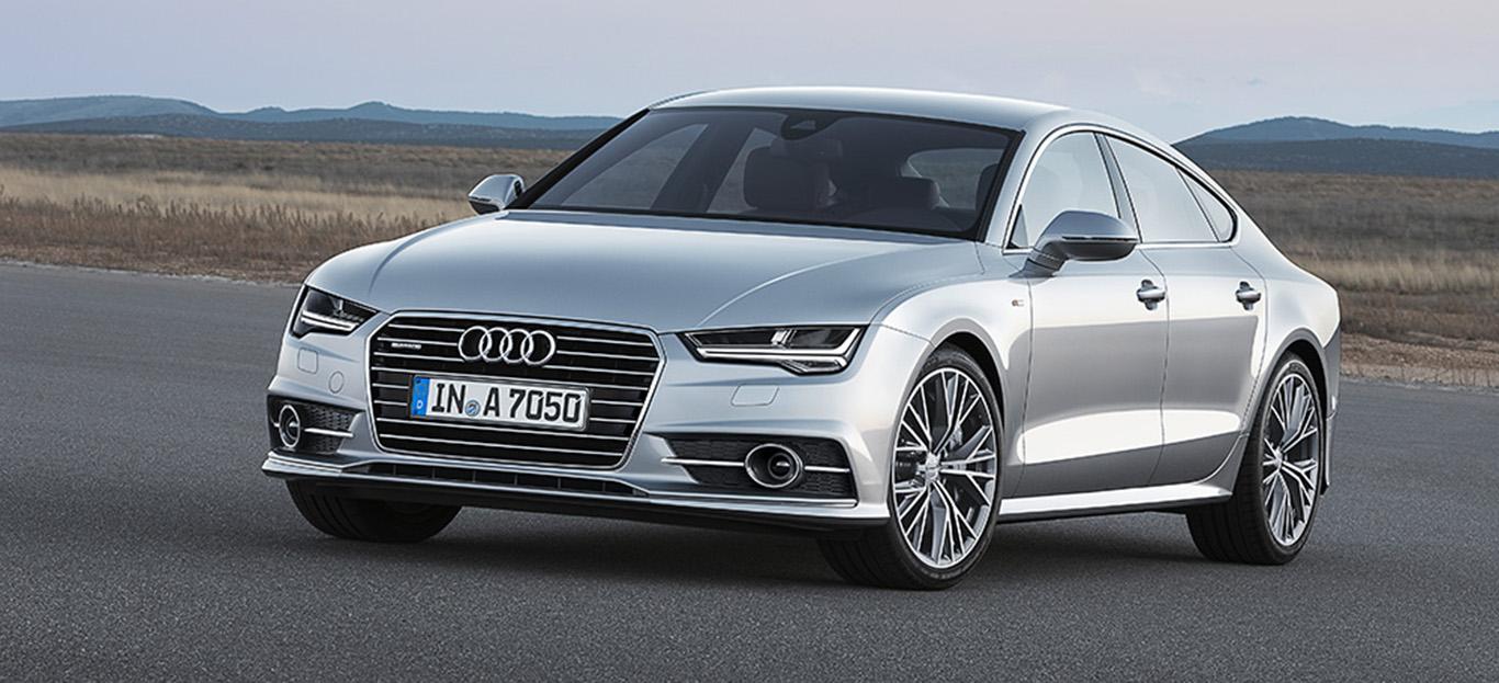 Halbseitenansicht eines Audi A7