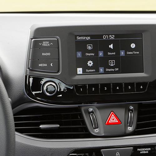 Hyundai i30 Kombi, Detail-Ansicht Infotainment-Anzeige