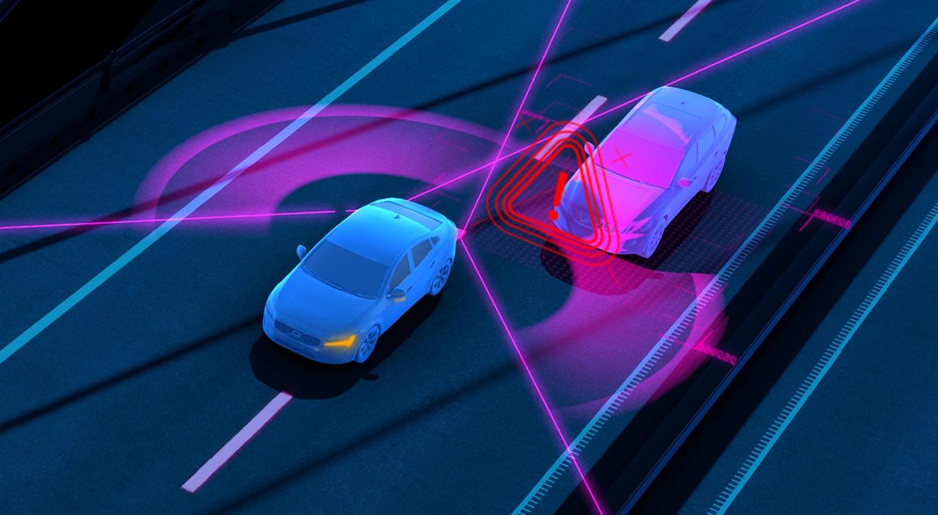 """BLIS steht für """"Blind Spot Information"""", ein Sensor-gestütztes Totwinkel-Warnsystem, das optional im XC60-Konfigurator angeboten wird."""