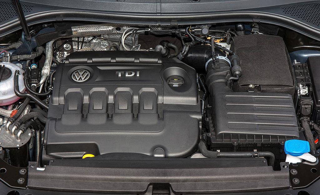 VW Tiguan Allspace-Motorisierung 2.0 TDI SCR 4MOTION mit Allrad und 190 PS.