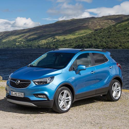 Opel Mokka X, blau, Frontansicht