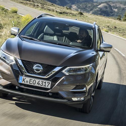 Nissan Qashqai, Frontansicht, fahrend, braun