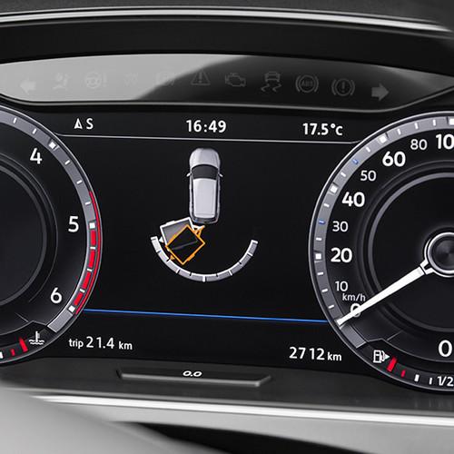 VW Tiguan, Armaturen, Rangier-Anzeige