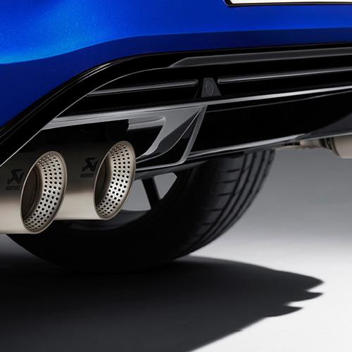 VW T-Roc R, Nahaufnahme, Doppelauspuff