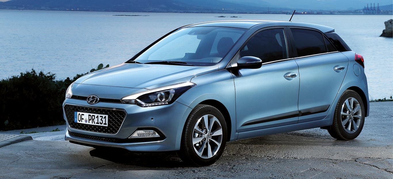 """Hyundai i20, Seitenansicht, stehend, in """"Iced Coffee Metallic"""""""