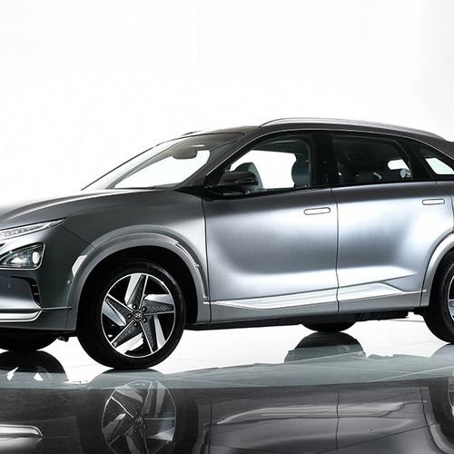 Hyundai Nexo, Seitenansicht, silber