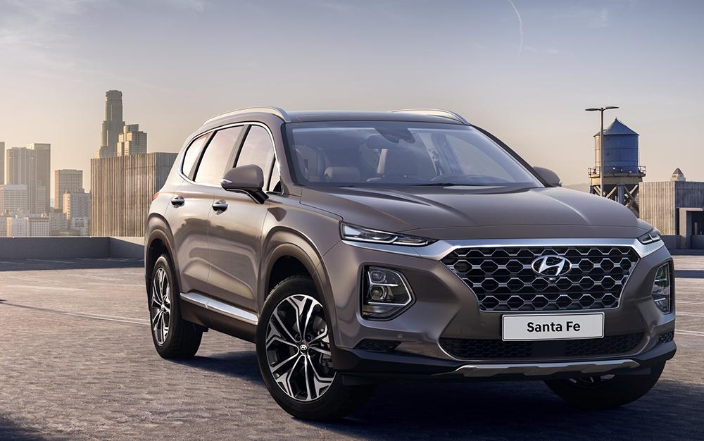 Der neue Hyundai Santa Fe, dessen Marktstart 2018 stattfand.