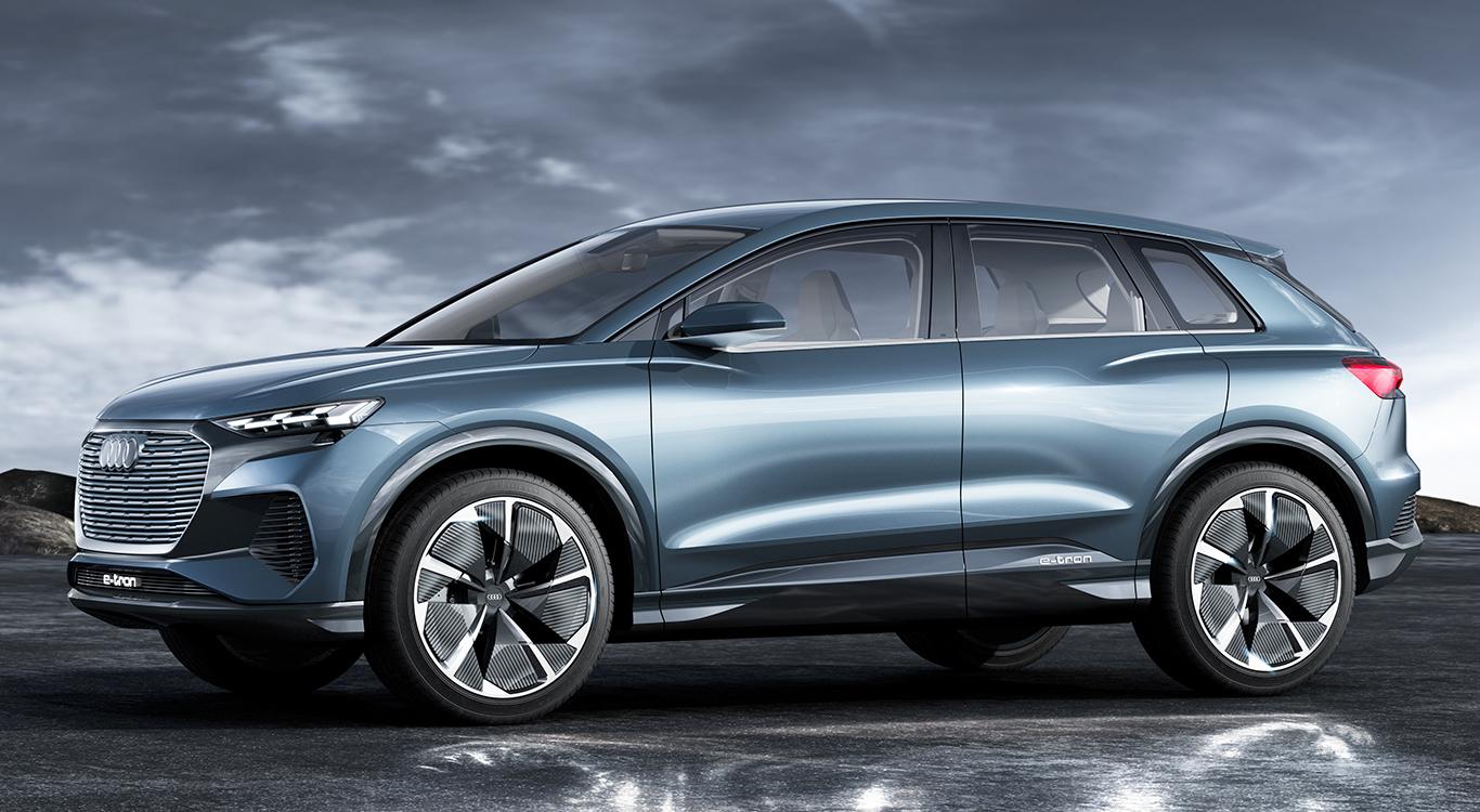Vermutlich im Jahr 2020 bringt Audi mit dem Q4 e-tron (im Bild die Studie) sein drittes Elektro-Serienmodell an den Start.