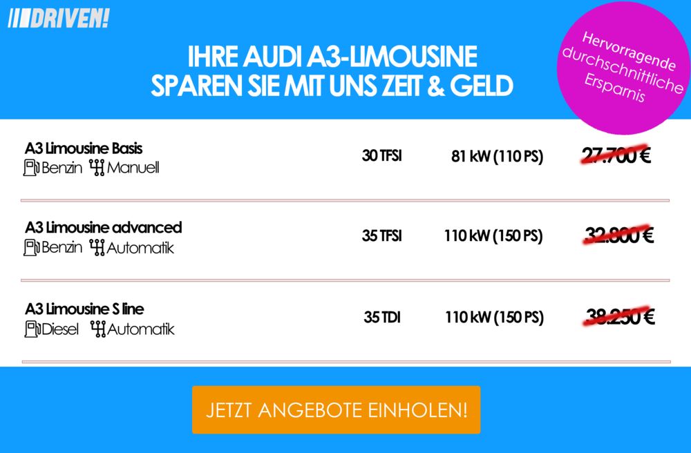 Werbung Audi A3 Limousine