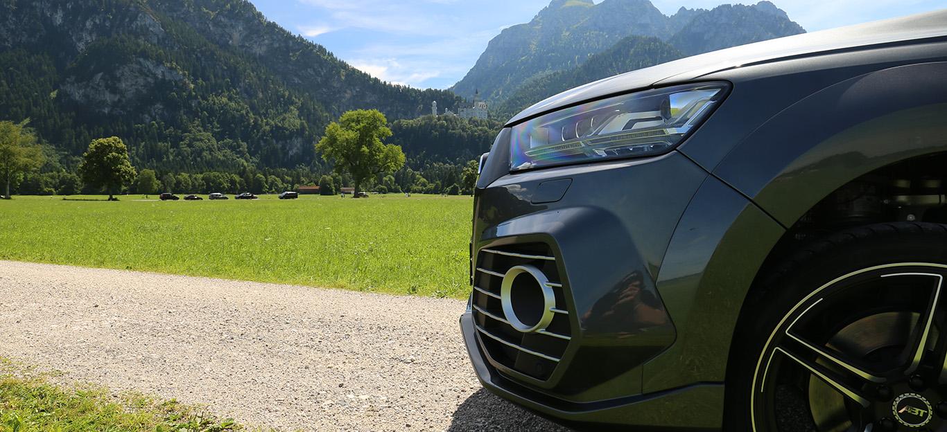 Ein Audi Q7 nach einem Tuning von Abt.