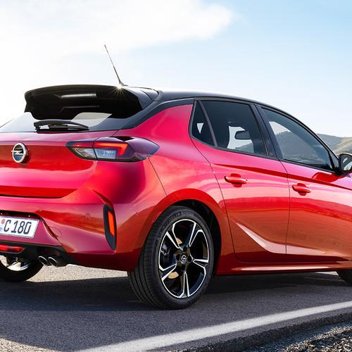Opel Corsa F, Heckansicht, rot