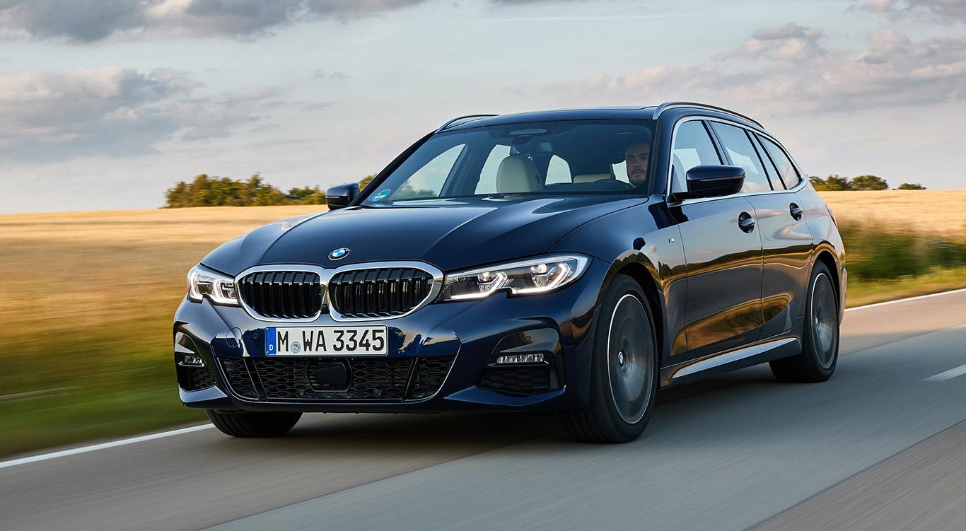 Inzwischen wieder im Rennen: Der neue BMW 3er Touring.