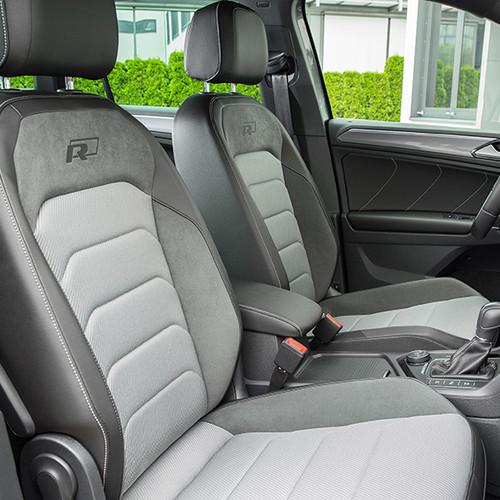 VW Tiguan R-Line, Innen-Ansicht, Polsterung im Cockpit