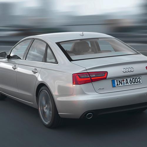 Rückansicht des Audi A6 (4G).