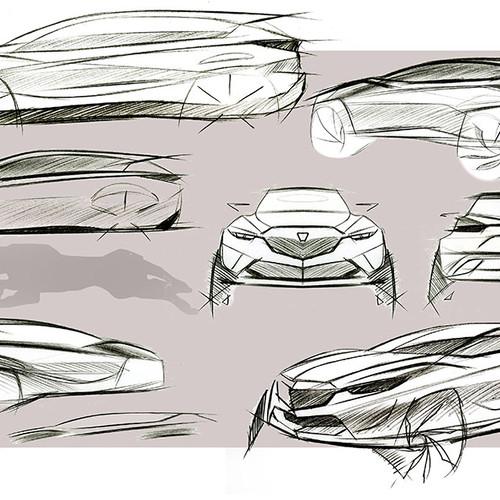Mazda Minagi, Skizze