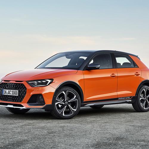 Audi A1 citycarver, Frontpartie, Seite