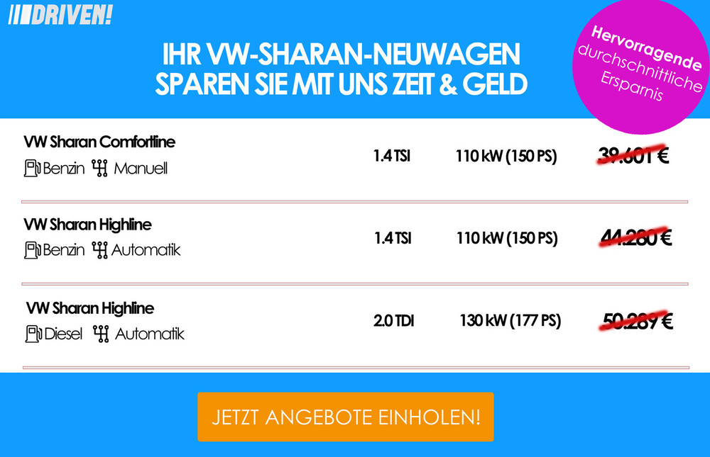Werbung VW Sharan
