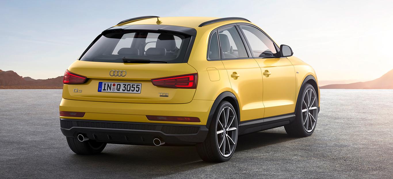 Rückansicht des Audi Q3 S Line Competition