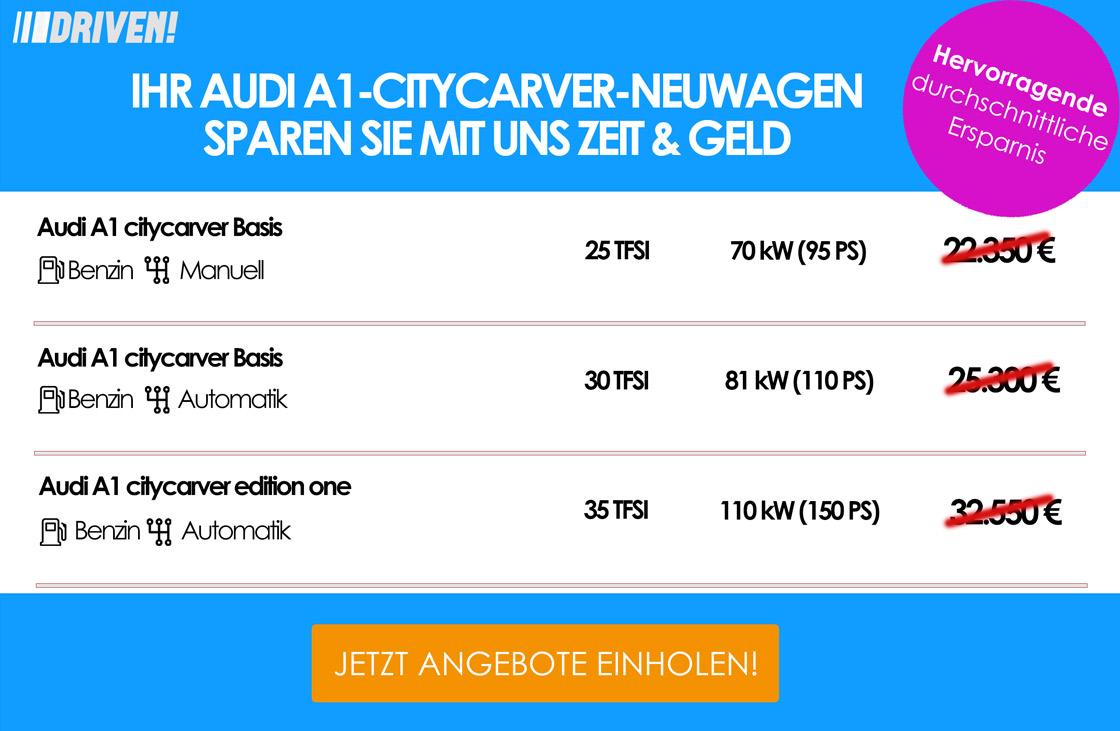 Werbung A1 citycarver