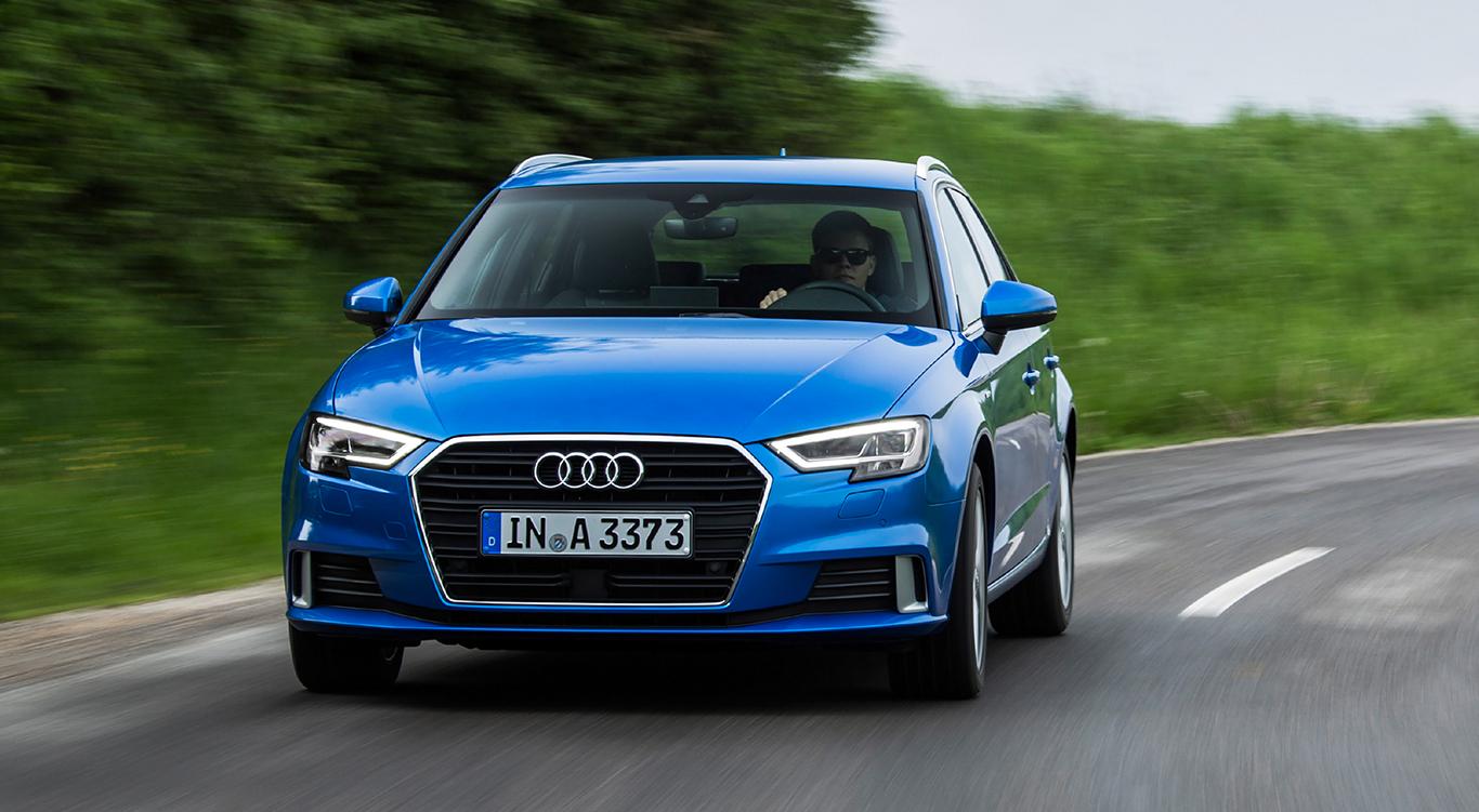 """Echter Hingucker: Der Audi A3 Sportback in der Ausstattungslinie """"sport"""" - erkennbar an den Lufteinlässen in Aluminiumoptik."""