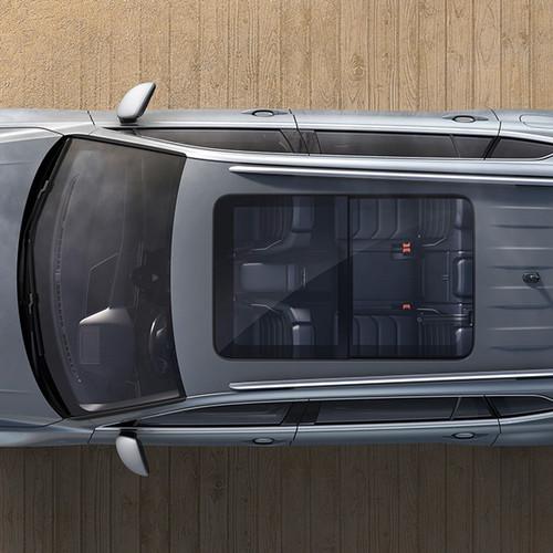 VW Tiguan Allspace, Aufsicht, mit Schiebedach