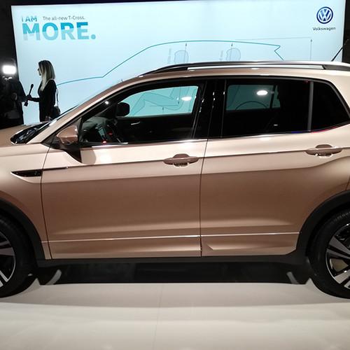 VW T-Cross, Prämiere, Seitenansicht, beige