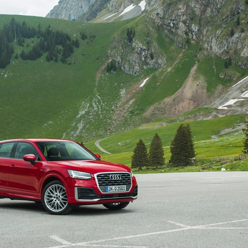 Seitenansicht Audi Q2.