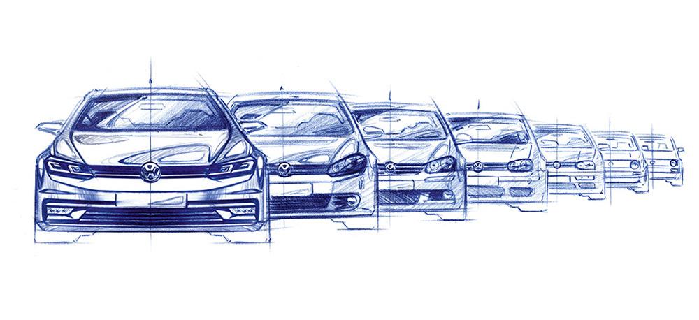 Kult-Objekt der Extraklasse - Der VW Golf in sieben Generationen.
