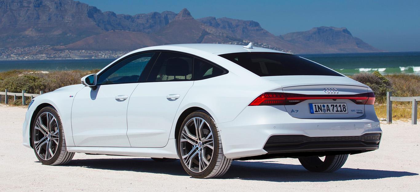 Audi A7 Sportback zweite Generation Heckansicht