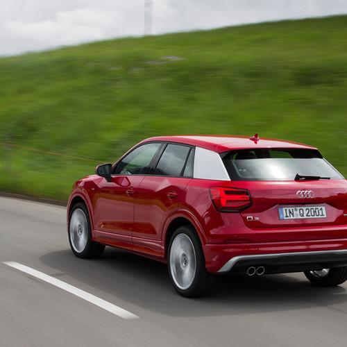 Rückansicht des Audi Q2.