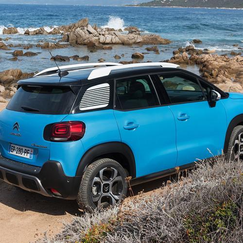 Citroën C3 Aircross Heckansicht blau