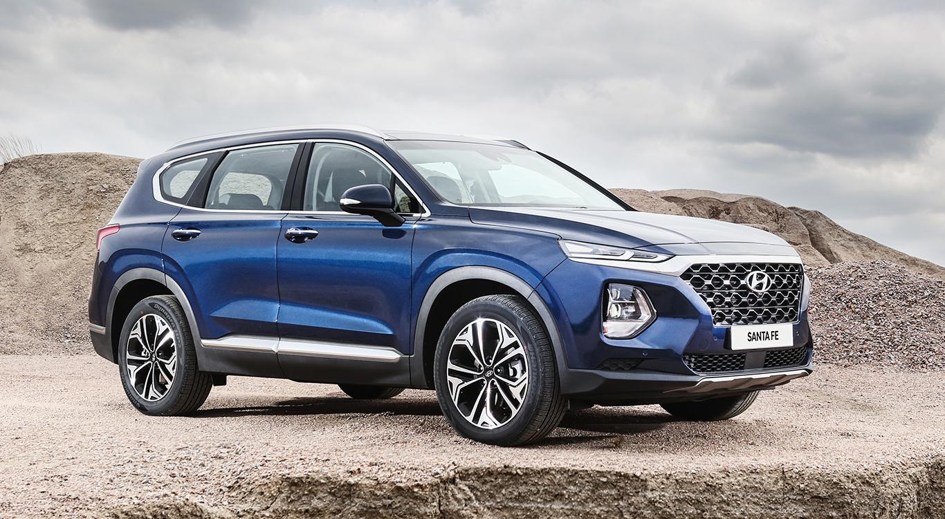 Oh ja: Für diesen schicken Hyundai-Geländewagen vom Typ Santa Fe können wir uns begeistern.
