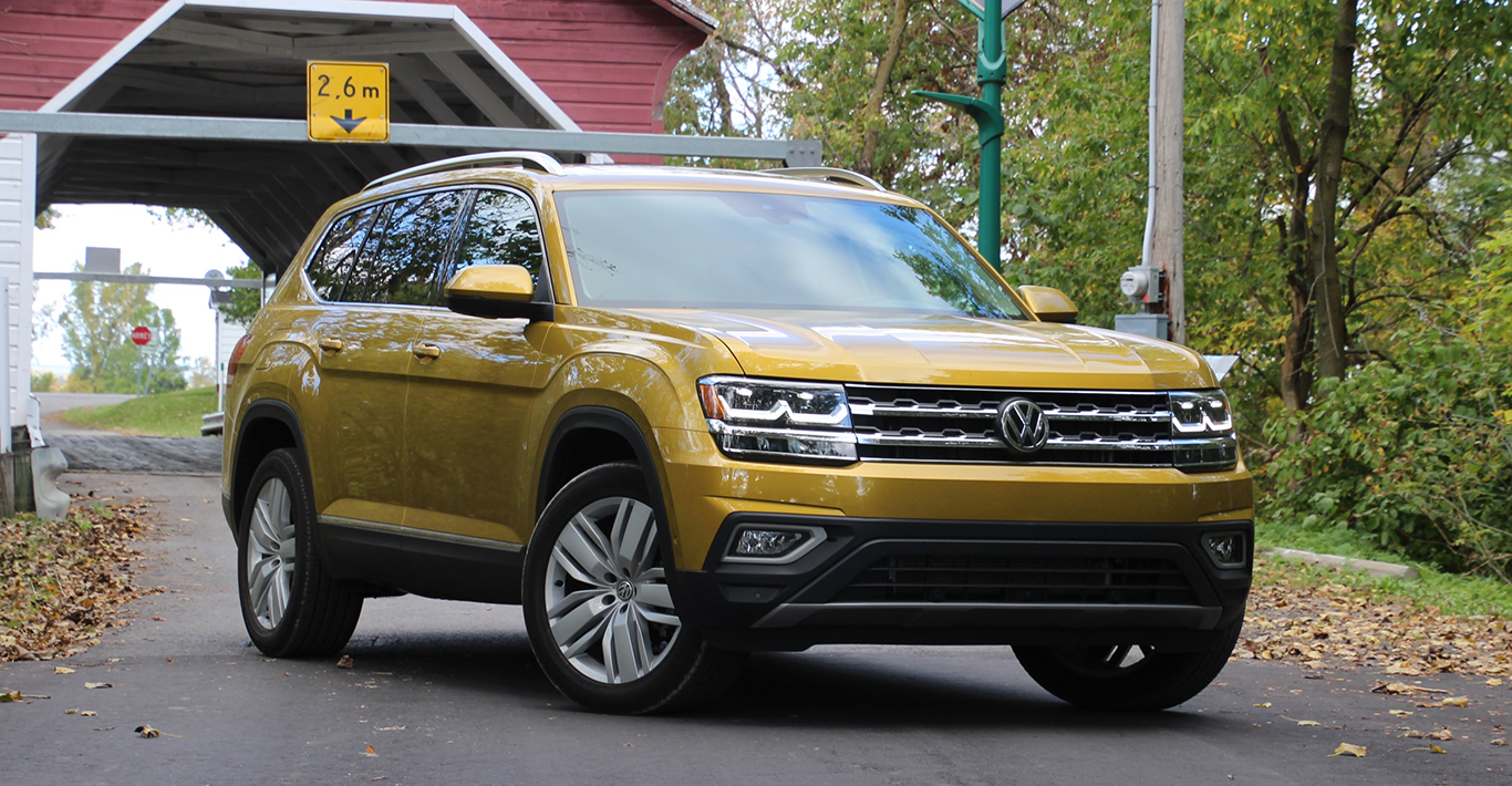 Dem T-Cross in der Designsprache sehr ähnlich ist der für den US-Markt gebaute, geländegängige VW Atlas.