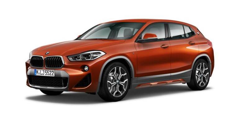 """Unser BMW X2 """"M Sport X"""" käme in der Farbe """"Sunset Orange"""" gewiss gut an. Tatsächlich aber haben wir uns schließlich in eine andere Lackierung verguckt."""