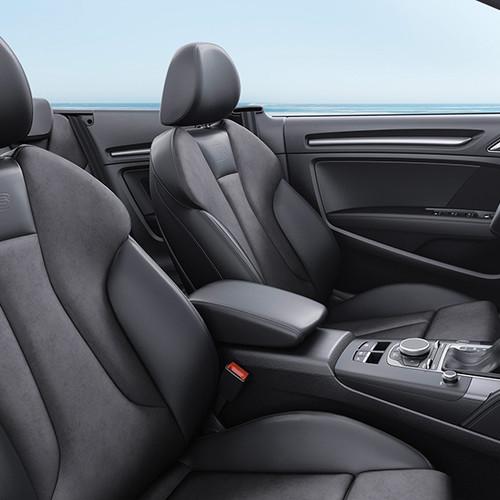 Audi A3 Cabrio, seitliche Innenansicht, Sitze im Cockpit