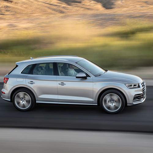 Seitenansicht des Audi Q5.