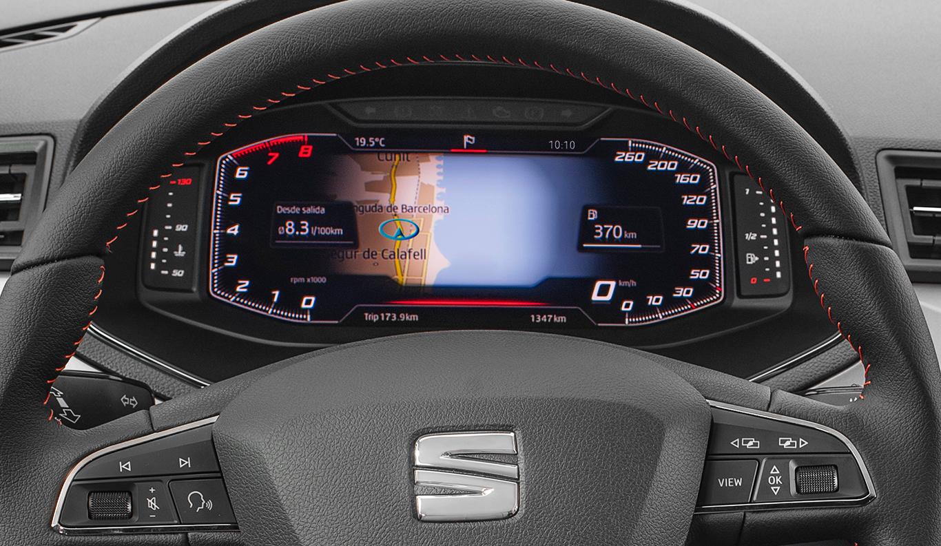 Immer alles auf einem Blick: Seit Ende August 2018 ist für den Seat Arona auch ein virtual cockpit verfügbar.