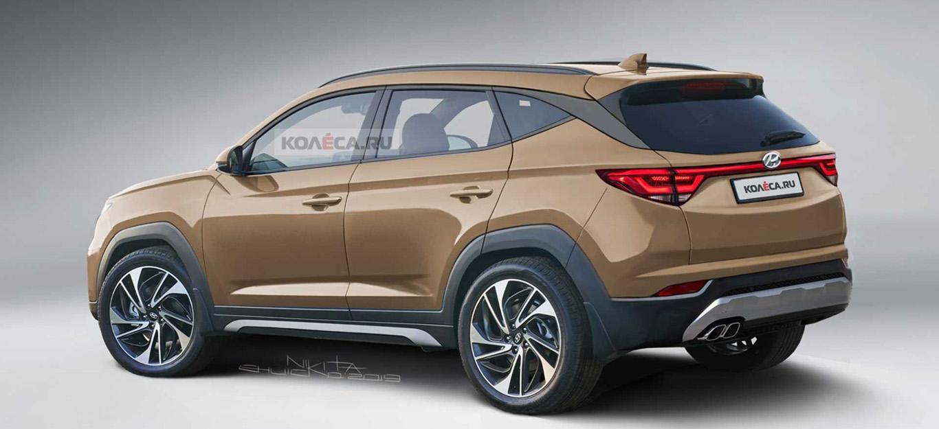 Rendering des neuen Hyundai Tucson 2020