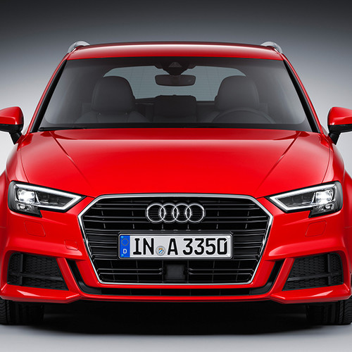 Audi A3 Sportback, Frontansicht, stehend, rot
