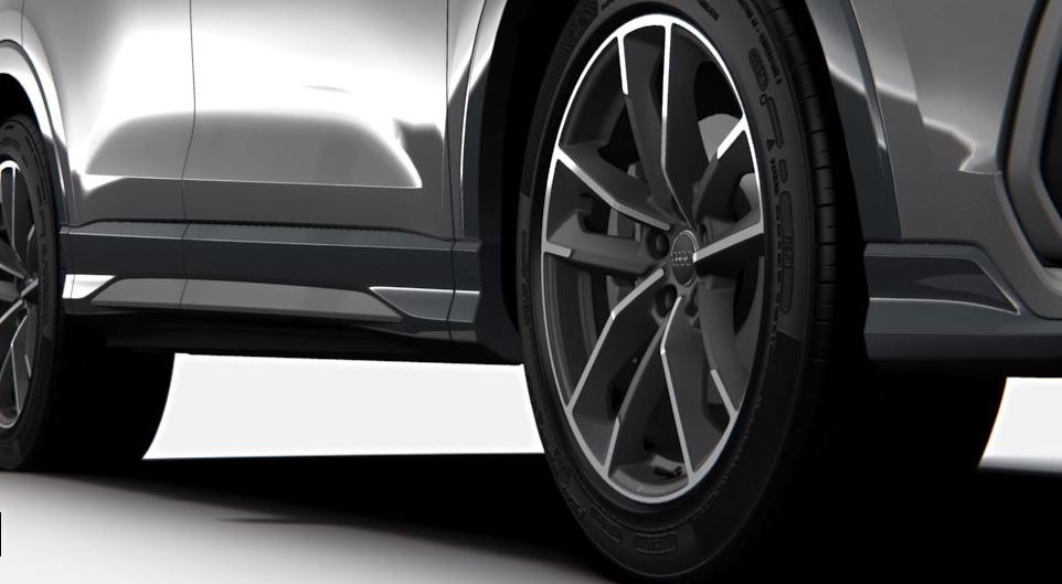 """Die Aluminium-Gussräder """"Audi Sport"""" in 5-Doppelarm-Design."""