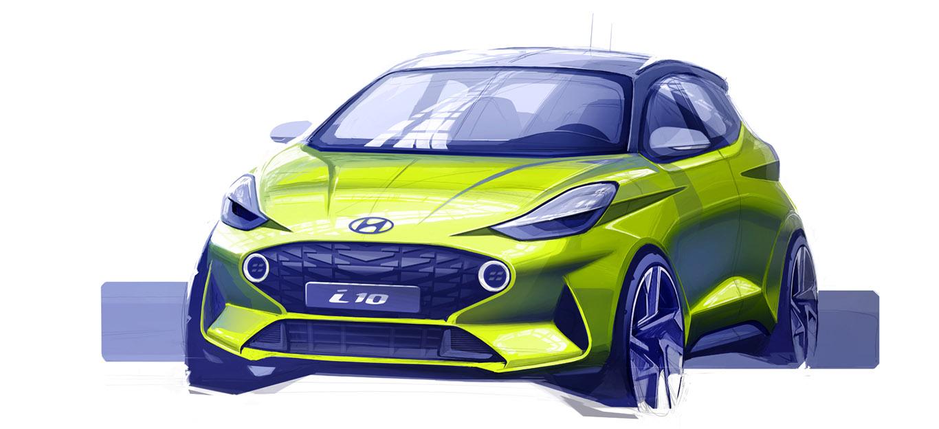 Designskizze des neuen Hyundai i10