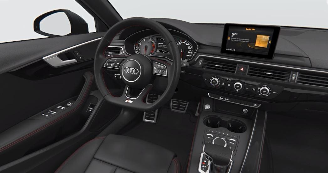 Audi A4 Avant S line black-Interieurpaket. Ein Beispiel für spezielle S line-Ausstattungen.