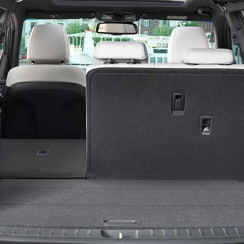 Hyundai Tucson, Kofferraum mit teil-umgeklappter Rücksitzlehne